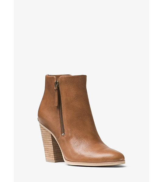 MICHAEL Michael Kors Denver Leather Ankle Boot in brown - No Closet Is Complete Without A Classic-Meets-Cool Ankle...