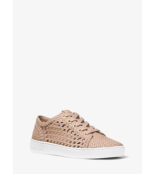 MICHAEL Michael Kors Desi Woven Leather Sneaker -