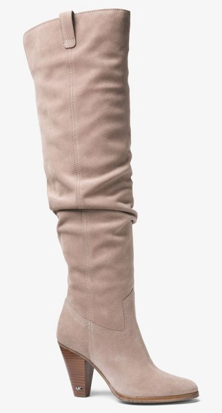 MICHAEL Michael Kors Divia Suede Boot in natural - The Perfect Pair For Fall Our Divia Boot Is Constructed...