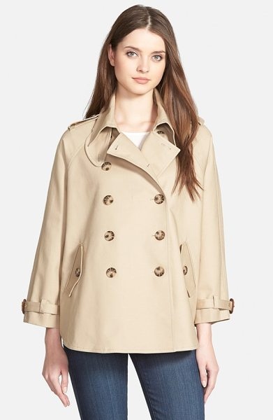 MICHAEL Michael Kors double breasted swing trench coat in khaki