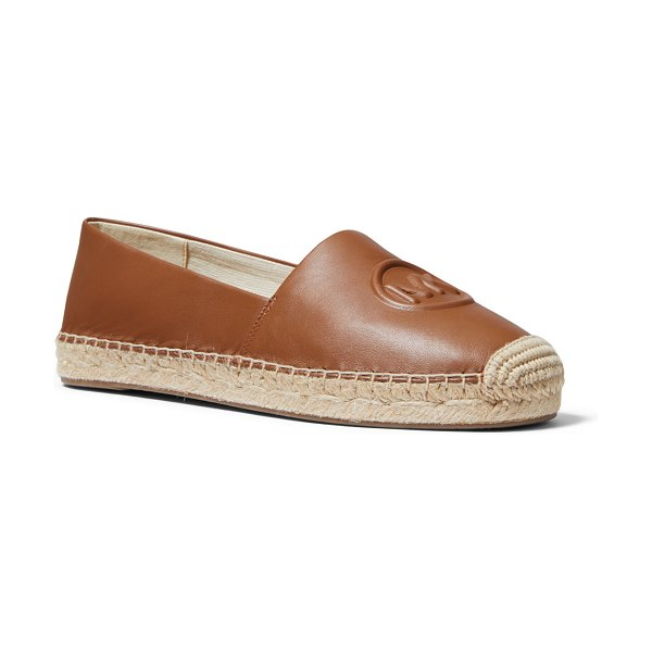 MICHAEL Michael Kors Dylyn Leather Logo Espadrille Flats in luggage