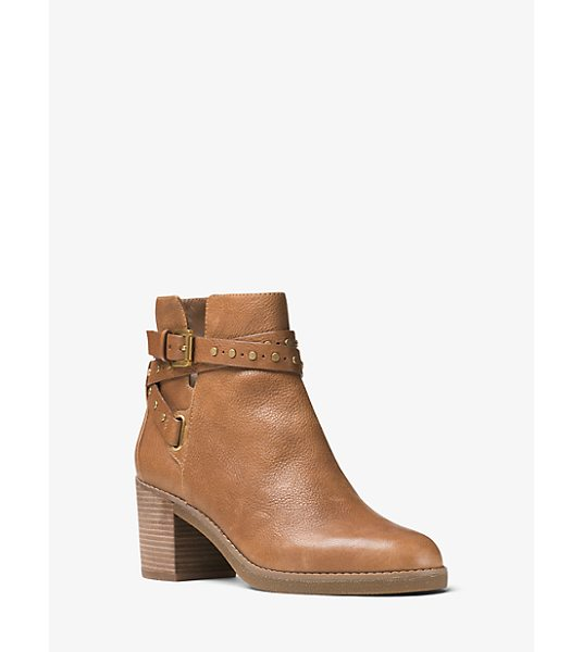 MICHAEL Michael Kors Fawn Leather Ankle Boot in brown - Our Fawn Ankle Boots Blend In Perfectly With The...