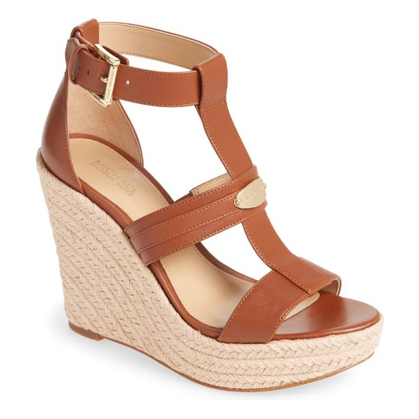 MICHAEL Michael Kors finley wedge sandal in brown
