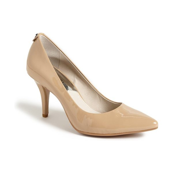 MICHAEL Michael Kors 'flex' pump in nude patent - Timeless styling mixed with the enhanced comfort of a...
