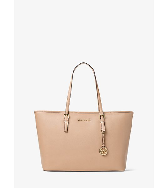 MICHAEL Michael Kors Jet Set Travel Large Saffiano Leather Top-Zip Tote -