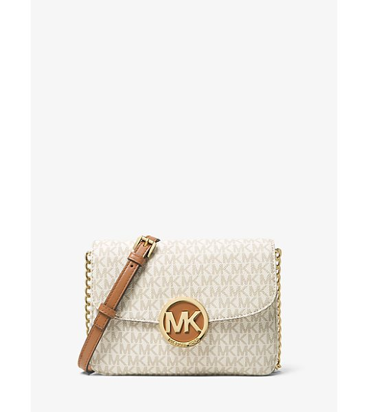 MICHAEL Michael Kors Fulton Logo Crossbody in natural - A Signature Style The Fulton Crossbody Is Updated In A...