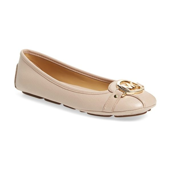 MICHAEL Michael Kors 'fulton' moccasin in soft pink leather - A driver-inspired flat makes a statement with bold logo...