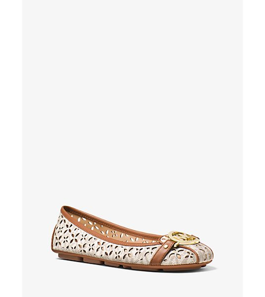 MICHAEL Michael Kors Fulton Perforated Logo Moccasin in natural - Classic Contemporary Cult-Worthy—the Fulton Moccasin...