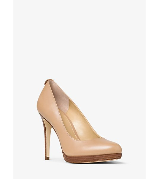 MICHAEL Michael Kors Georgia Leather Pump in brown - Classic In Silhouette Our Georgia Pumps Are An Everyday...
