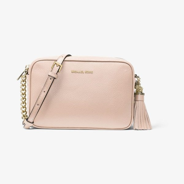 MICHAEL MICHAEL KORS Ginny Leather Crossbody - The Ginny Crossbody Strikes The Perfect Balance Between...
