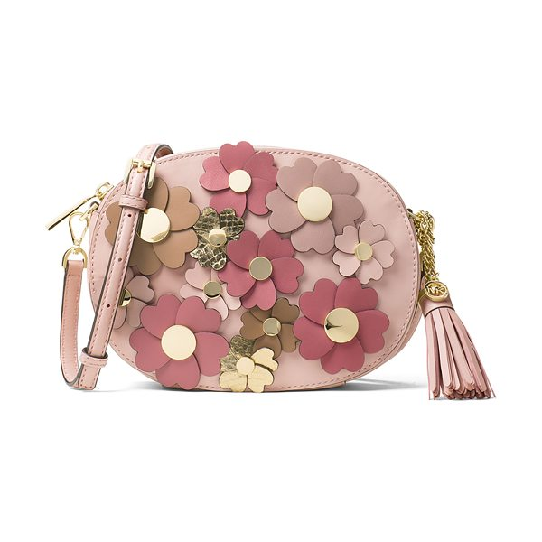 MICHAEL Michael Kors Ginny Medium Floral Messenger Bag in pink