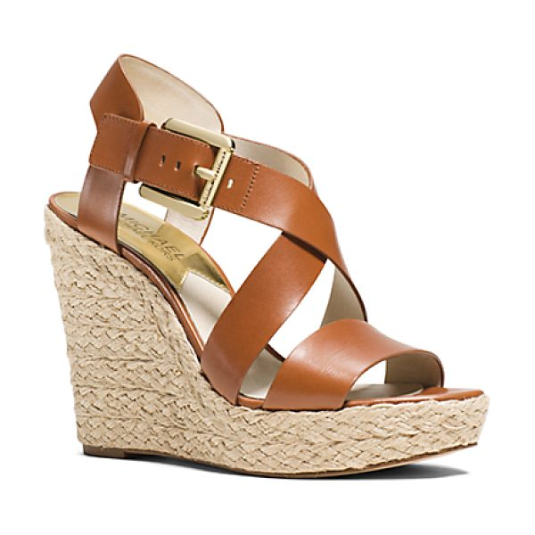 MICHAEL MICHAEL KORS Giovanna Leather Espadrille Wedge Sandal - Build Your Warm-Weather Looks From The Ground Up With...