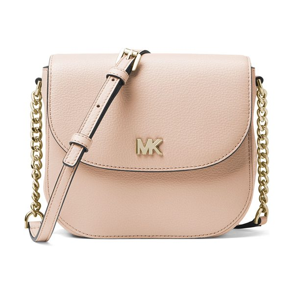 MICHAEL MICHAEL KORS Half-Dome Leather Crossbody Bag - Golden Hardware - MICHAEL Michael Kors crossbody bag in pebbled cowhide...