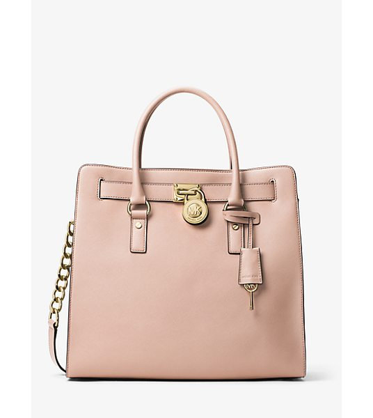 MICHAEL Michael Kors Hamilton Large Saffiano Leather Tote in pink - A Forever Favorite Inspired By A Vintage Silhouette The...