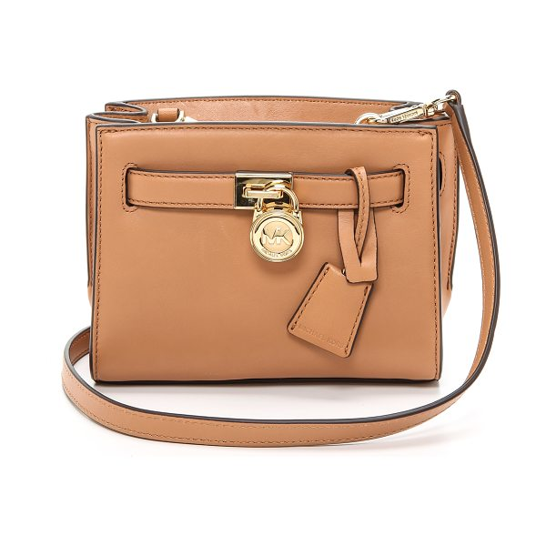 MICHAEL Michael Kors Hamilton small messenger bag in sun tan - Supple leather composes this tiny MICHAEL Michael Kors...