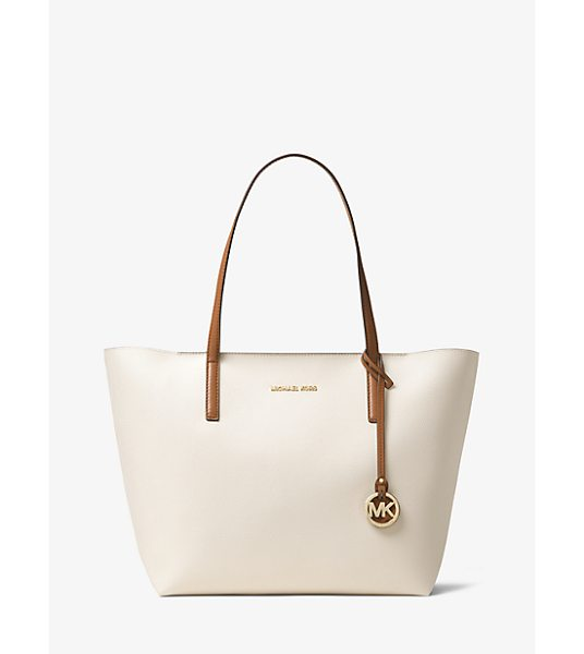 MICHAEL Michael Kors Hayley Large Coated Canvas Tote in natural - Our Hayley Tote Is A Spacious Coated Canvas Carryall...