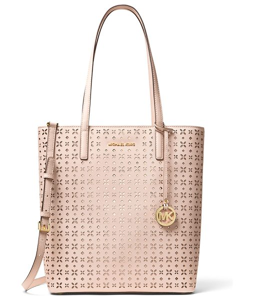 MICHAEL MICHAEL KORS Hayley Large Top-Zip Leather Tote Bag - MICHAEL Michael Kors floral-perforated saffiano leather...