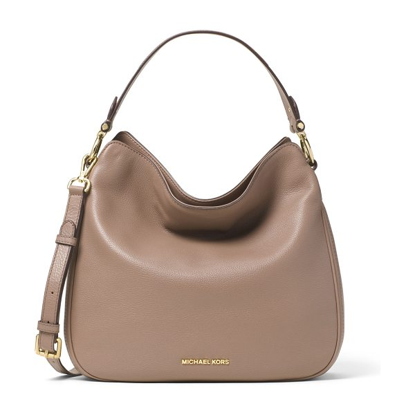 "MICHAEL Michael Kors Heidi medium convertible shoulder bag in dark dune - MICHAEL Michael Kors pebbled ""Venus"" leather shoulder..."