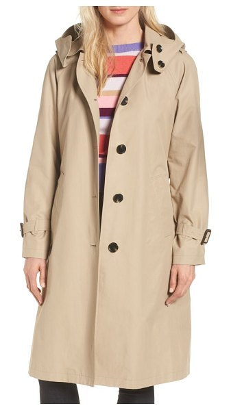MICHAEL Michael Kors hooded trench coat in beige - The season of the trench coat is upon us, and the...