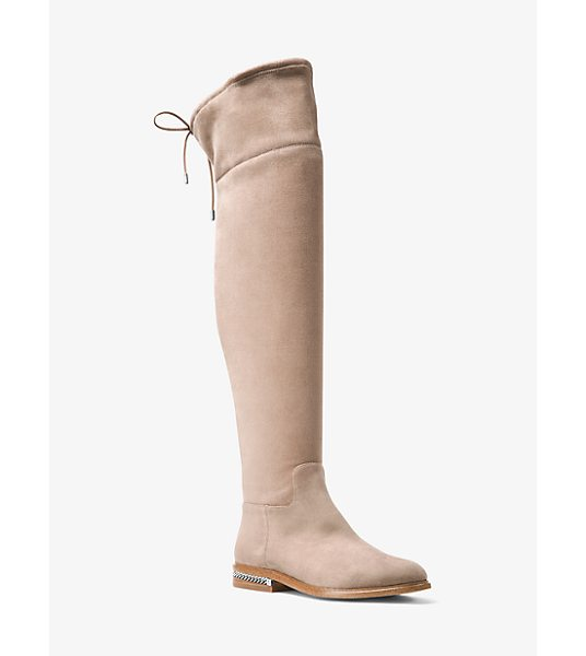 MICHAEL Michael Kors Jamie Stretch Suede Boot in natural - The Perfect Partner To Shorter Hemlines Our Jamie Boots...