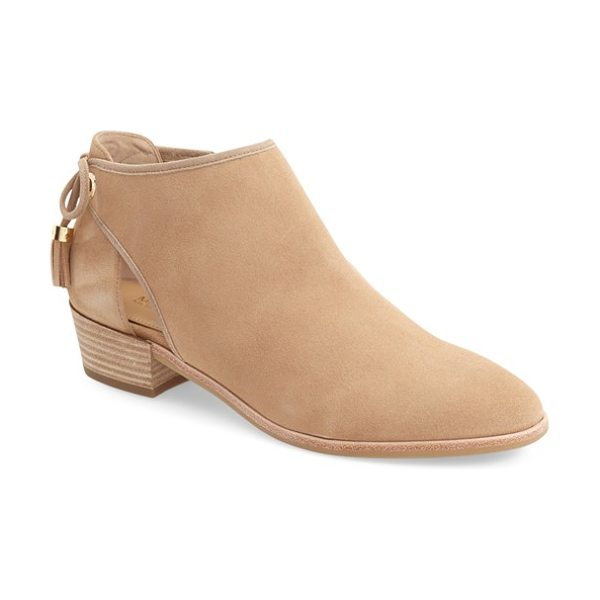 MICHAEL MICHAEL KORS 'jennings' cutout bootie - Tasseled ties dance at the back of a cutout bootie...