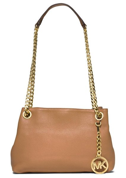MICHAEL Michael Kors Jet set chain crossbody bag in peanut - This petite crossbody design is elevated by a long,...