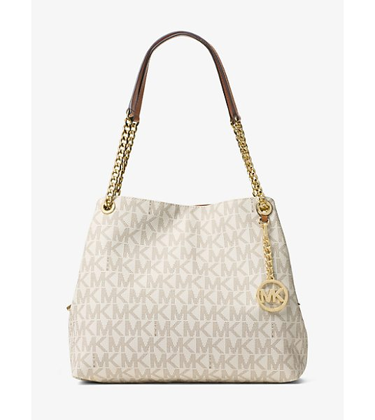 MICHAEL Michael Kors Jet Set Large Logo Shoulder Bag in natural - When It Comes To Everyday Glamour This Covetable Style...