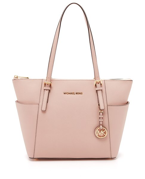 MICHAEL Michael Kors Jet set top zip tote in ballet - A spacious MICHAEL Michael Kors tote with a logo charm...