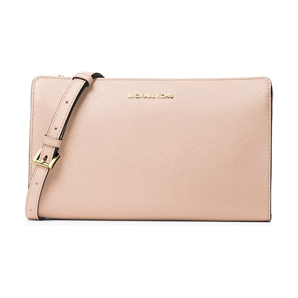 MICHAEL Michael Kors Jet Set Travel Large Crossbody in soft pink/gold - Michael Michael Kors Jet Set Travel Large Crossbody-Handbags