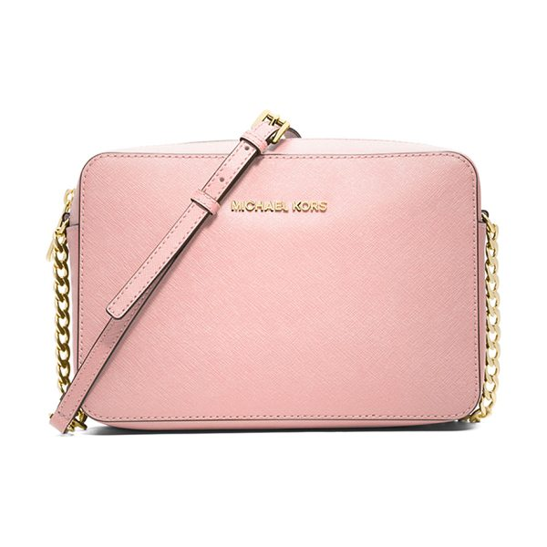 MICHAEL Michael Kors Jet set travel large crossbody bag in blossom - MICHAEL Michael Kors saffiano leather crossbody bag....