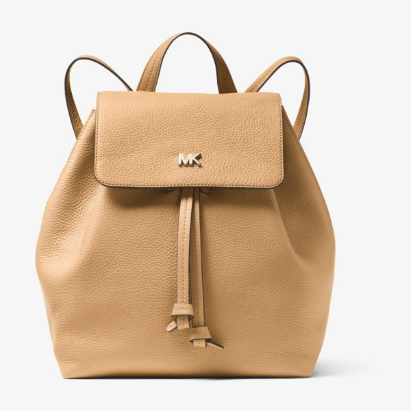 MICHAEL Michael Kors Junie Medium Pebbled Leather Backpack in natural - The Junie Backpack Is Constructed From Pebbled Leather...