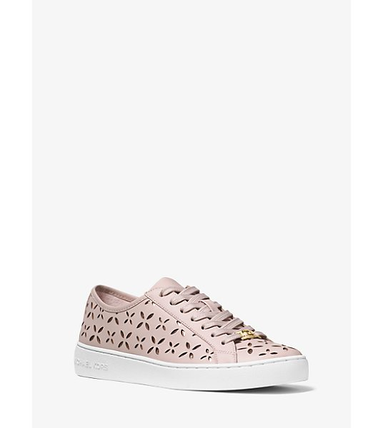 MICHAEL Michael Kors Keaton Perforated-Leather Sneaker in pink - These Sophisticated Sneakers Will Add Effortless Chic To...
