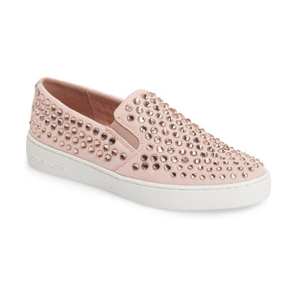 MICHAEL Michael Kors keaton slip-on sneaker in ballet fabric - Polished logo hardware provides a street-savvy upgrade...