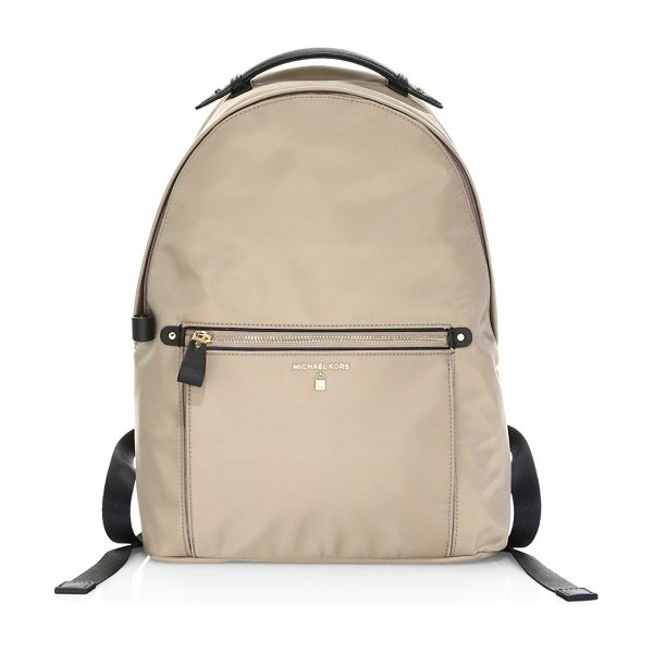 MICHAEL Michael Kors kelsey nylon backpack in truffle - Backpack with fashionable epaulet styled handle. Top...