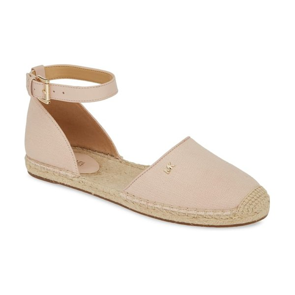 MICHAEL Michael Kors kendrick espadrille flat in pink - An espadrille-style sole and cap toe add a wink of...