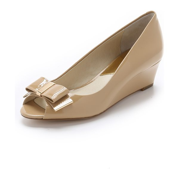 MICHAEL Michael Kors Kiera open toe wedges in nude - These MICHAEL Michael Kors wedges feel feminine, crafted...