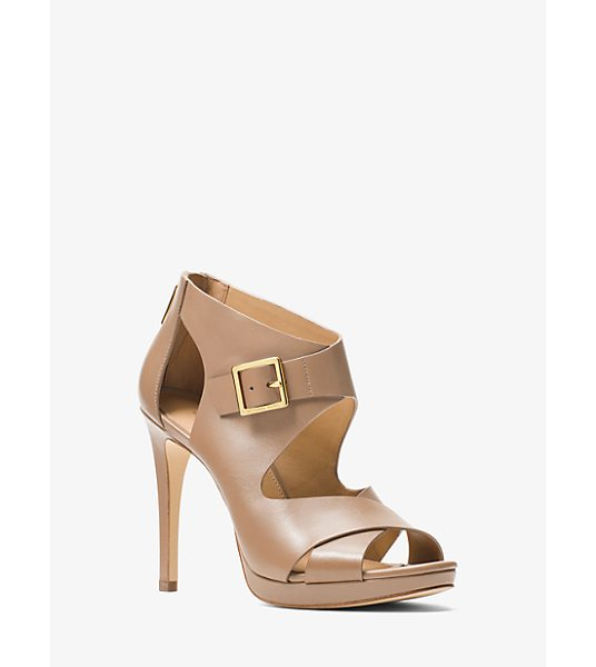 MICHAEL MICHAEL KORS Kimber Leather Platform Sandal in natural - Complement The Season's Romantic Pieces With A Pair Of...