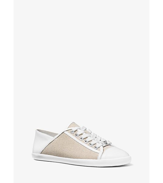 MICHAEL Michael Kors Kristy Canvas And Leather Sneakers in natural - Kick-Start The New Season With A Dose Of Our Signature...