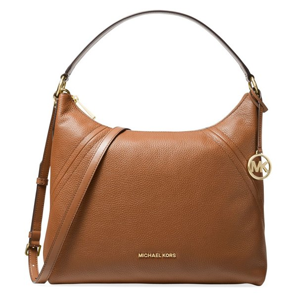 MICHAEL Michael Kors large aria leather hobo bag in luggage