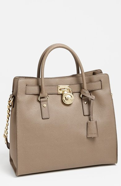 MICHAEL MICHAEL KORS Large hamilton saffiano leather tote - Scratch-resistant Saffiano leather provides rich texture...