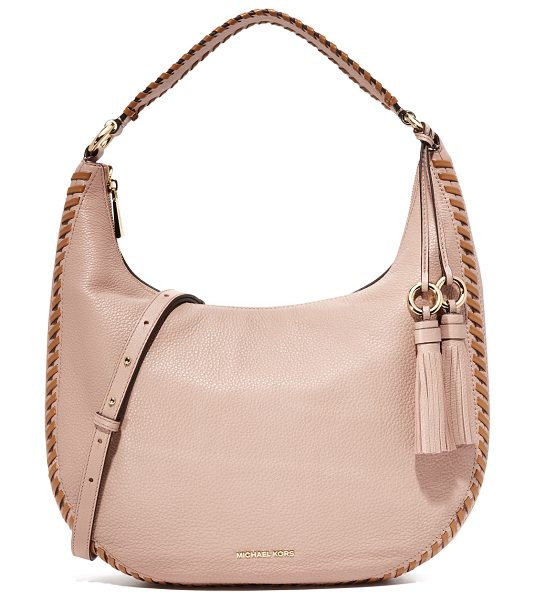 MICHAEL Michael Kors large lauryn shoulder bag in fawn - A pebbled leather MICHAEL Michael Kors soft shoulder bag...