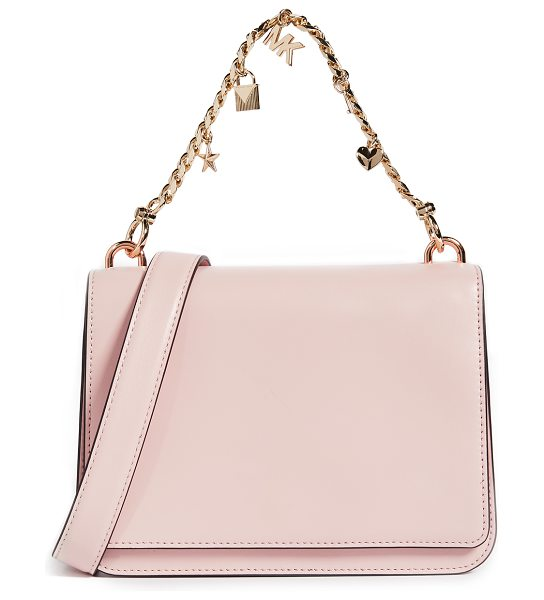 MICHAEL Michael Kors large mott shoulder bag in soft pink - A structured MICHAEL Michael Kors bag in smooth leather....