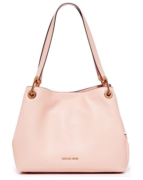 MICHAEL Michael Kors large raven shoulder tote in soft pink - A pebbled-leather MICHAEL Michael Kors tote in a soft,...