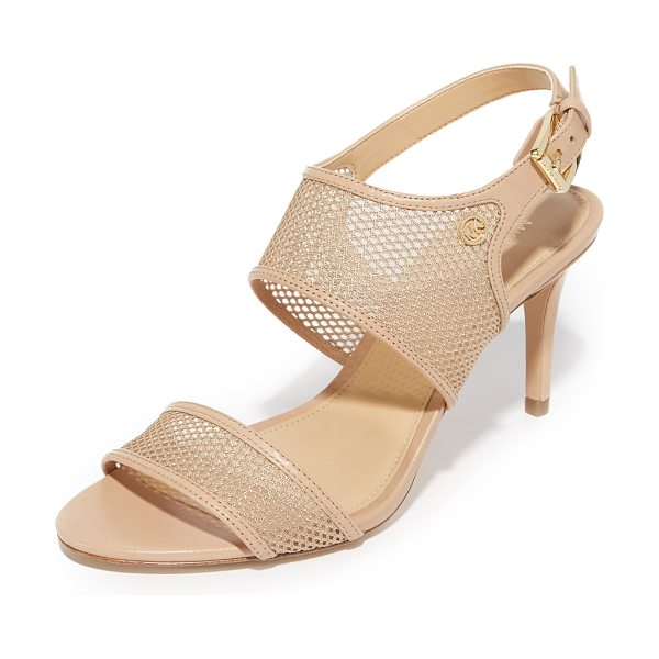 MICHAEL MICHAEL KORS Michael Michael Kors Leilah Sandals - Sheer mesh panels accented with smooth leather trim...