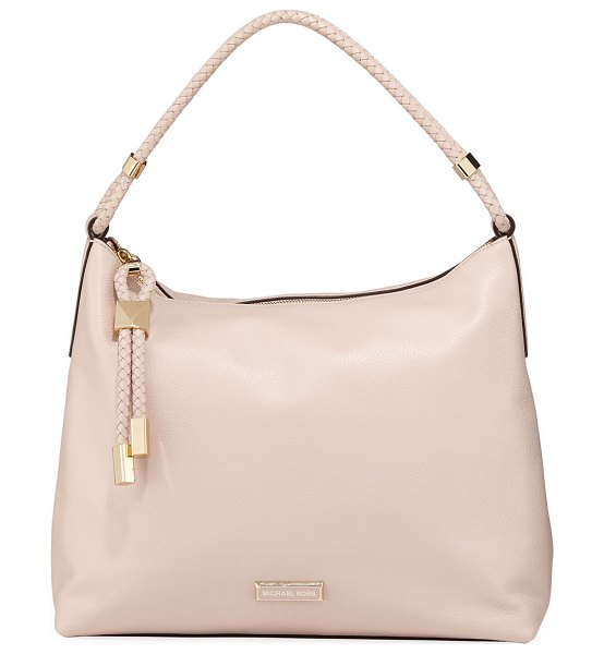 MICHAEL Michael Kors Lexington Large Leather Shoulder Bag in light pink