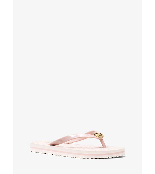 MICHAEL Michael Kors Logo Flip-Flop in pink - A Getaway Essential These Flip-Flops Are Tailor-Made For...