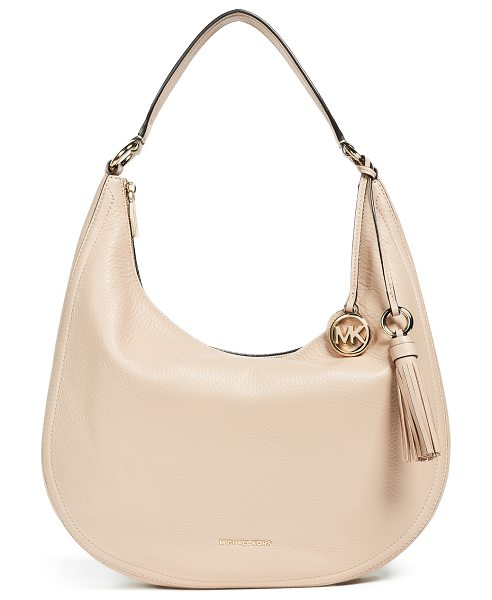 MICHAEL MICHAEL KORS lydia large hobo - Leather: Cowhide Zip at top Zip interior pockets Pouch...