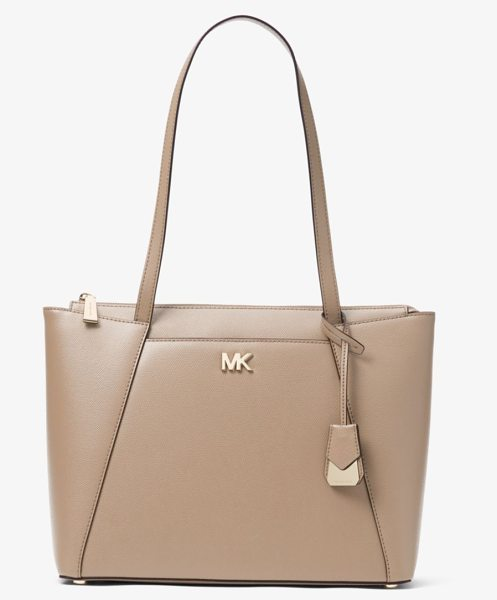 MICHAEL Michael Kors Maddie Medium Crossgrain Leather Tote in brown - A Signature For Every Day The Maddie Is An Always-Chic...