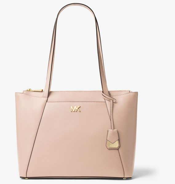MICHAEL Michael Kors Maddie Medium Crossgrain Leather Tote in pink - A Signature For Every Day The Maddie Is An Always-Chic...