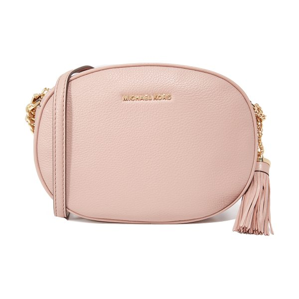 MICHAEL Michael Kors medium ginny messenger bag in fawn - A petite MICHAEL Michael Kors cross-body bag in wrinkled...